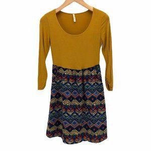 Tyche Womens Shift Dress Blue Long Sleeve Size M